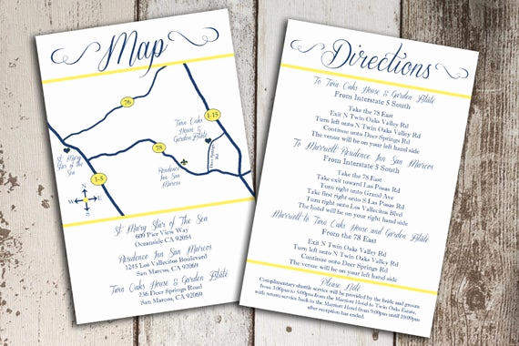 Wedding Invitation Insert Templates Elegant Items Similar to Custom Wedding Map and Direction