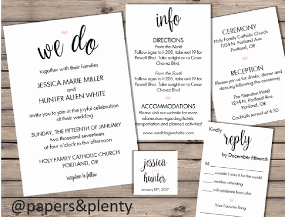 Wedding Invitation Insert Templates Lovely Best 25 Wedding Invitation Inserts Ideas On Pinterest