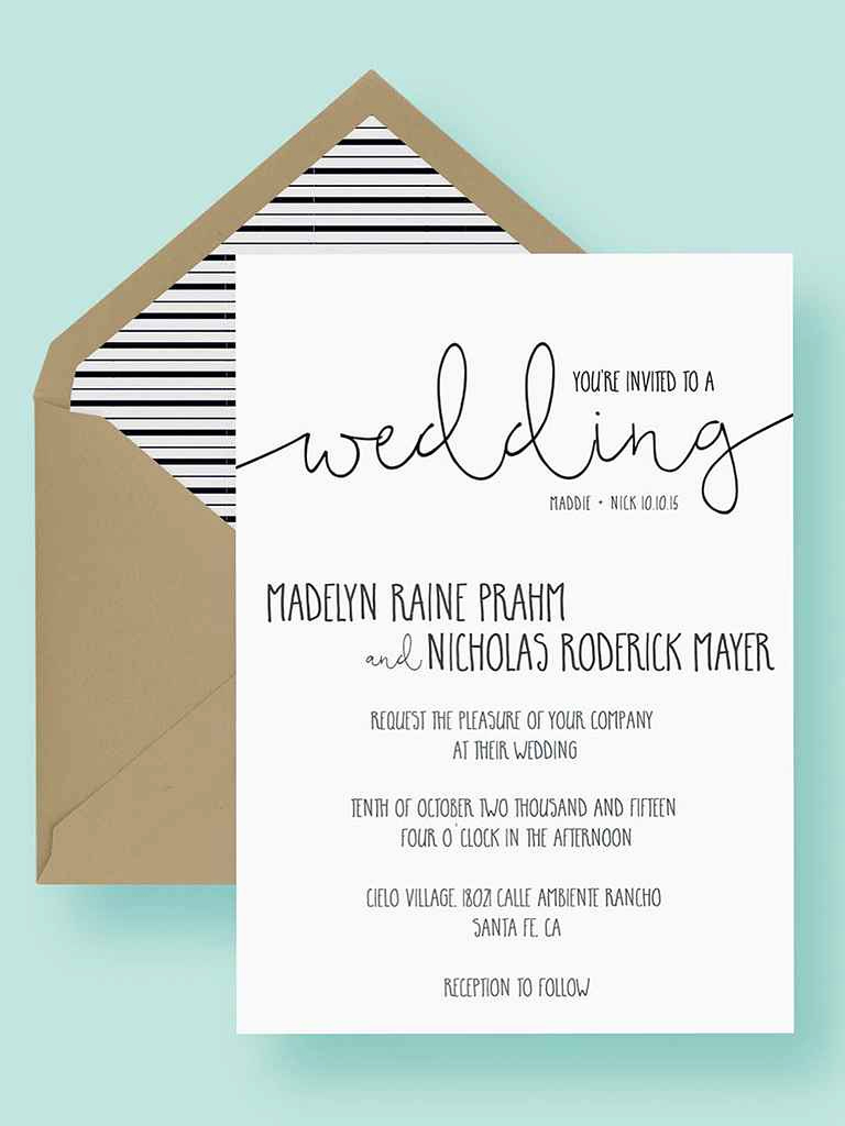 Wedding Invitation Insert Templates Luxury 16 Printable Wedding Invitation Templates You Can Diy