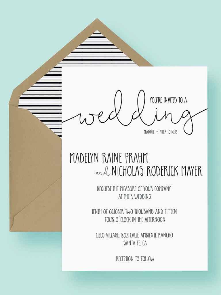 Wedding Invitation Insert Templates Luxury 16 Printable Wedding Invitation Templates You Can Diy