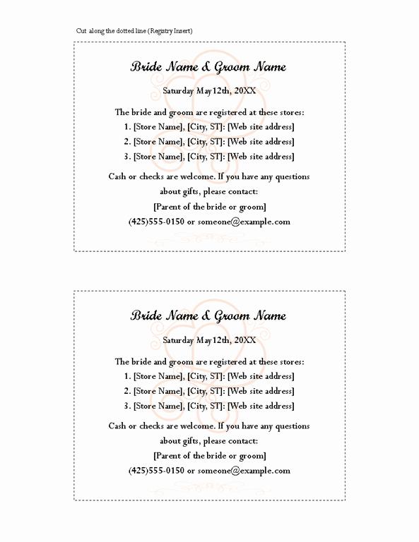 Wedding Invitation Insert Templates New Download Free Printable Invitations Of Engagement Bridal