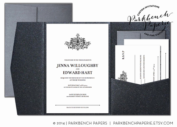 editable wedding invitation rsvp card and insert card pocket fold antique flourish word template instant printable