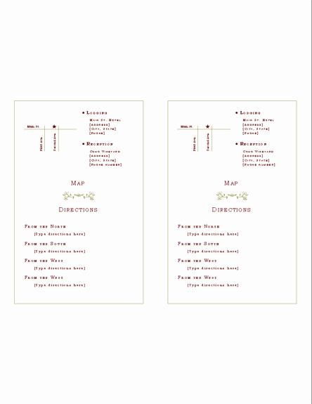 Wedding Invitation Insert Templates Unique Download Free Printable Invitations Of Directions Insert