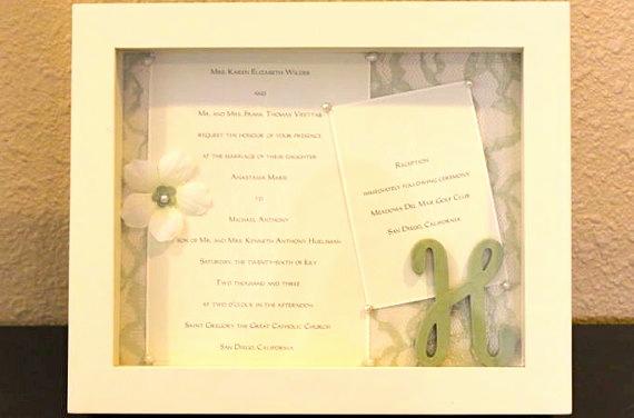 Wedding Invitation Keepsake Frame Awesome 25 Best Ideas About Wedding Invitation Keepsake On