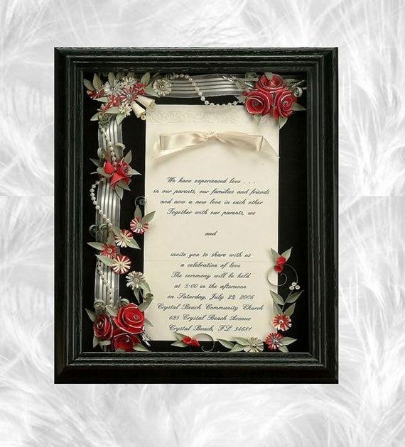Wedding Invitation Keepsake Frame Awesome Framed Wedding Invitation Wedding Shadow Box Wedding T