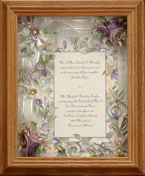 Wedding Invitation Keepsake Frame Beautiful Framed Wedding Invitation Spring Wedding Lavender
