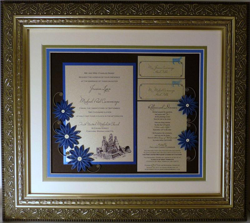 Wedding Invitation Keepsake Frame Best Of Quilled Wedding Invitation Keepsake Custom Wood Frame
