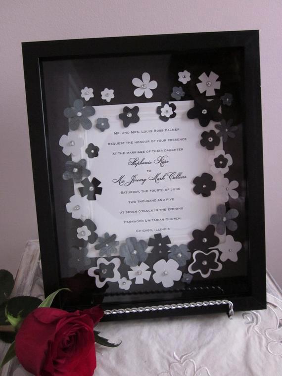 Wedding Invitation Keepsake Frame Elegant Unavailable Listing On Etsy