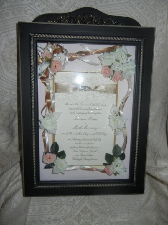 Wedding Invitation Keepsake Frame Lovely Wedding Invitation Keepsake Frame Hand Made Decorated with