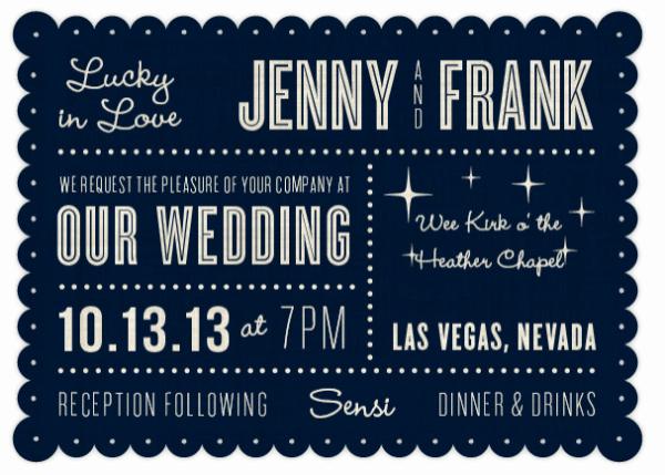 Wedding Invitation Las Vegas Awesome 7 Unexpected Las Vegas Wedding Invitations Little Vegas