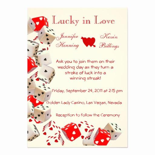 Wedding Invitation Las Vegas Awesome Casino Las Vegas Wedding Invitation Announcement