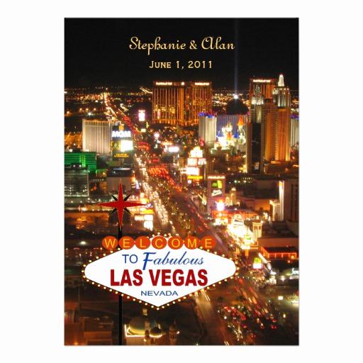 Wedding Invitation Las Vegas Awesome Las Vegas Wedding Invitation