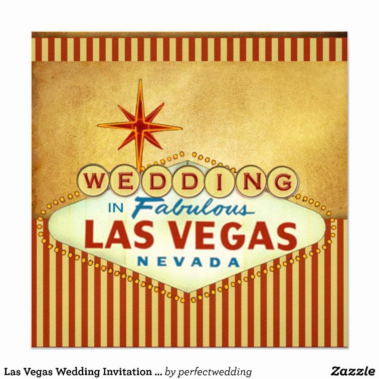 Wedding Invitation Las Vegas Awesome Las Vegas Wedding Invitation Template