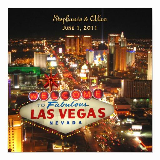 Wedding Invitation Las Vegas Beautiful Las Vegas Wedding Invitation