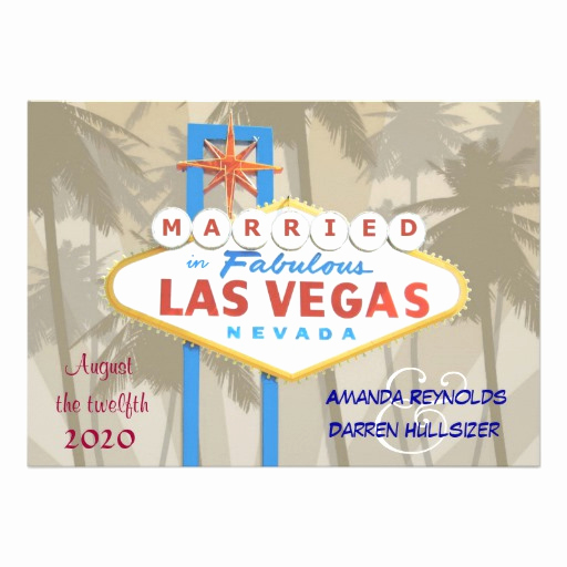"Wedding Invitation Las Vegas Inspirational Las Vegas Wedding Invitations 5"" X 7"" Invitation Card"