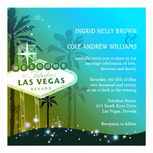 """Wedding Invitation Las Vegas Lovely Glitz & Glam Las Vegas Wedding Invitations 5 25"""" Square"""