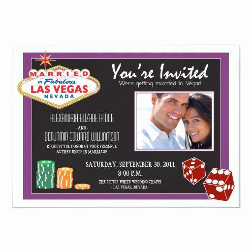 Wedding Invitation Las Vegas Lovely Las Vegas Destination Wedding Invitation Purple