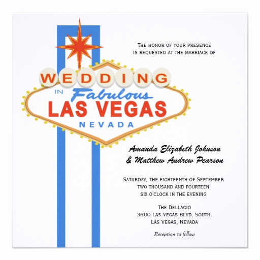 "Wedding Invitation Las Vegas Luxury Las Vegas Sign Destination Wedding Invitation 5 25"" Square"