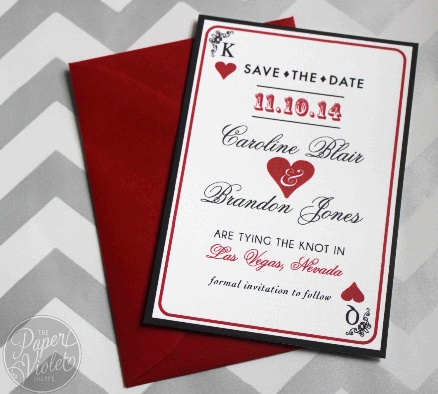 Wedding Invitation Las Vegas New Las Vegas Save the Date Casino theme Save the Date with Free