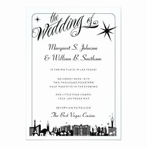 Wedding Invitation Las Vegas Unique Elegant Las Vegas Strip Skyline Wedding Invitation