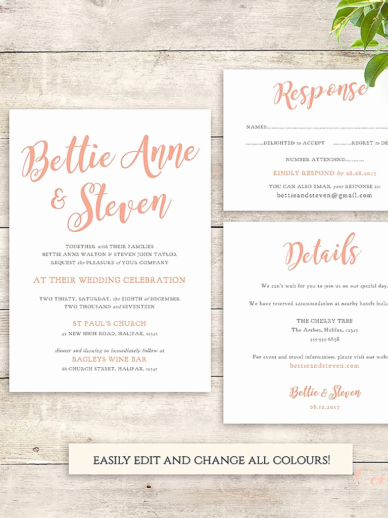 Wedding Invitation List Templates Elegant 16 Printable Wedding Invitation Templates You Can Diy
