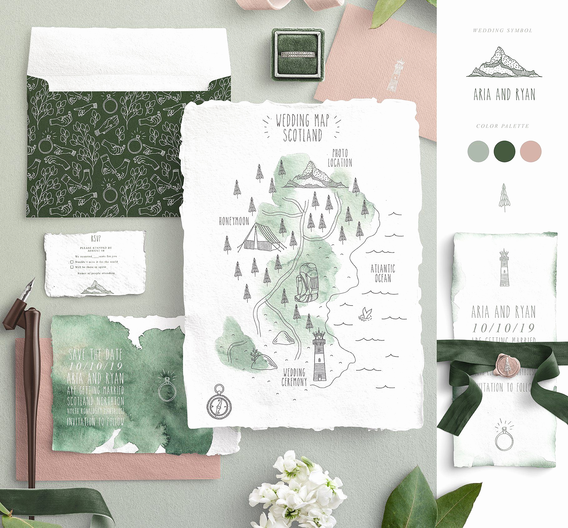 Wedding Invitation Map Creator Inspirational Wedding Map Creator by Julia Dreams On Creativemarket