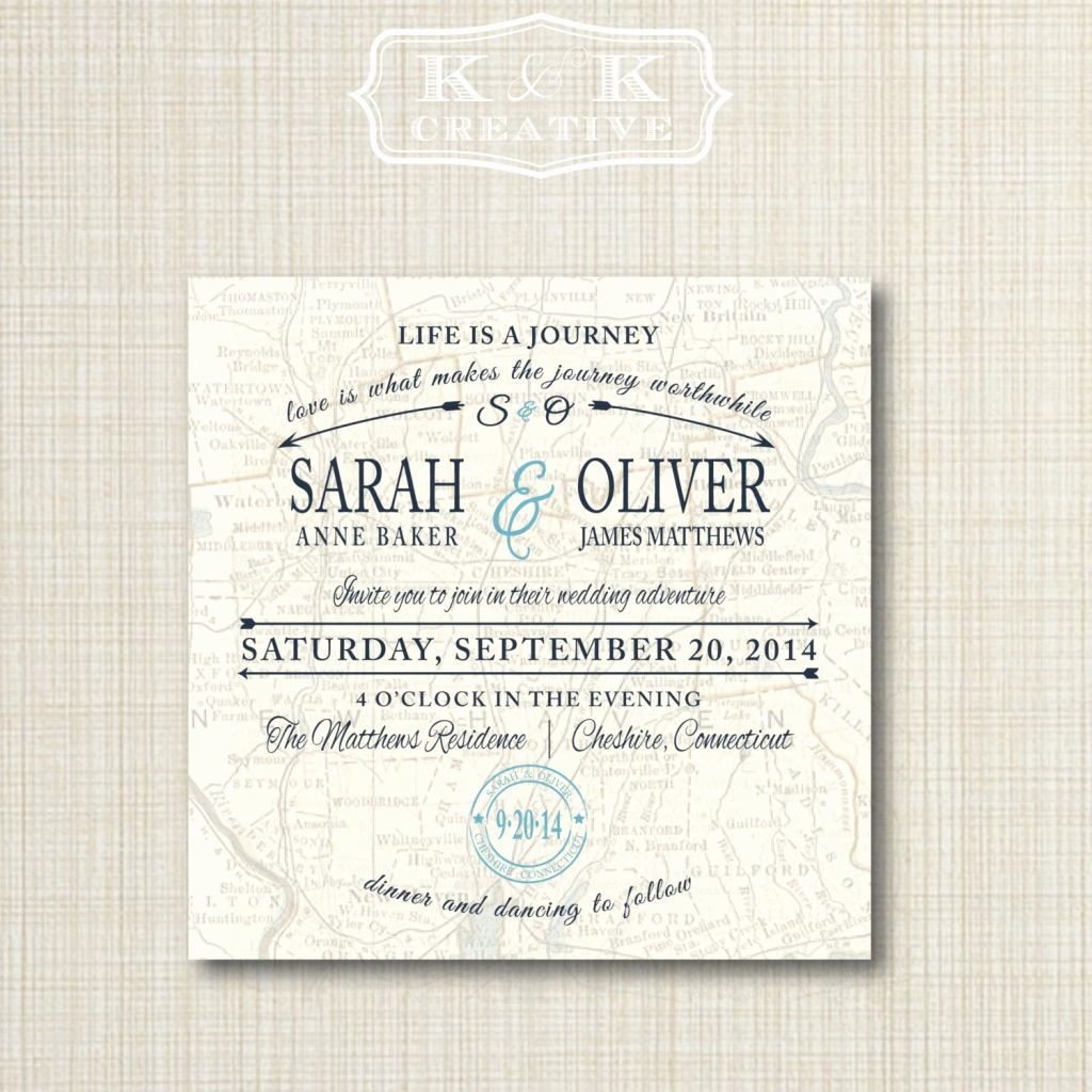 Wedding Invitation Map Creator Unique Custom Wedding Map and Direction Invitation Insert