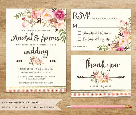 Wedding Invitation On Pinterest Inspirational Printable Wedding Invitations Best Photos Cute Wedding Ideas