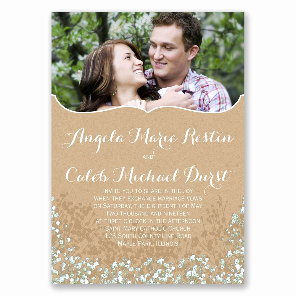 Wedding Invitation Photo Ideas Luxury Baby S Breath Invitation