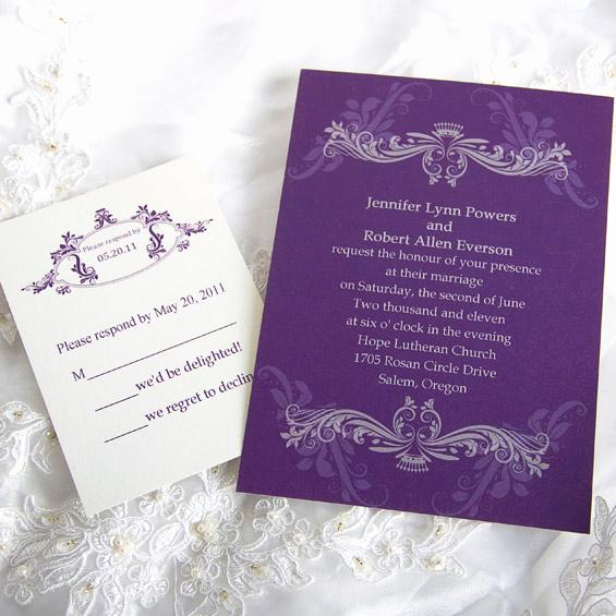 Wedding Invitation Photo Ideas Luxury Purple Wedding Invitations and Wedding Ideas
