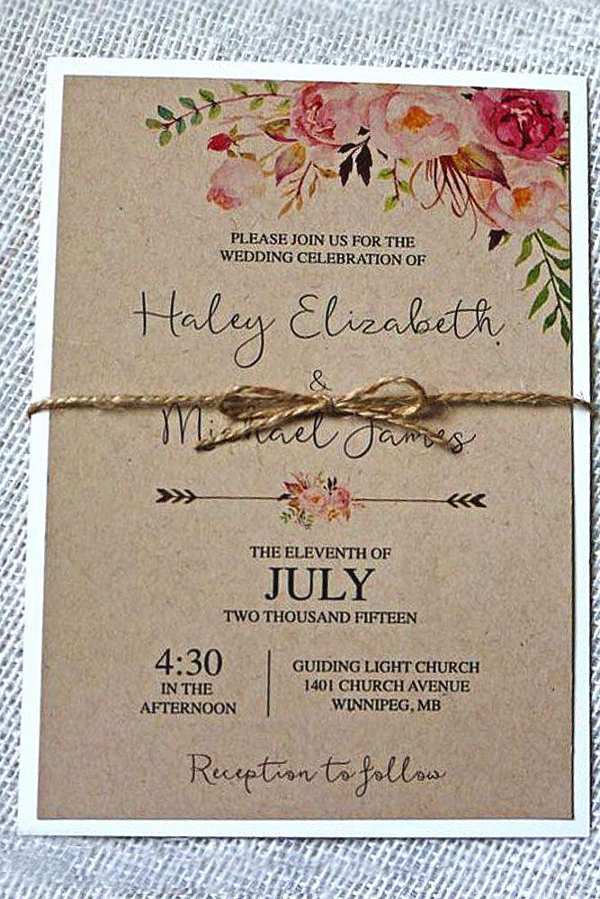 Wedding Invitation Photo Ideas Unique 24 Rustic Wedding Invitations to Impress Your Guests