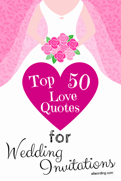 Wedding Invitation Quotes and Sayings Fresh top 50 Love Quotes for Wedding Invitations Allwording