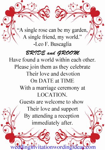 Wedding Invitation Quotes and Sayings Unique Wedding Invitation Verses and Quotes Quotesgram