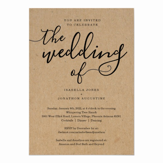 Wedding Invitation Registry Wording Best Of All In E Wedding Invitation with Rsvp & Registry