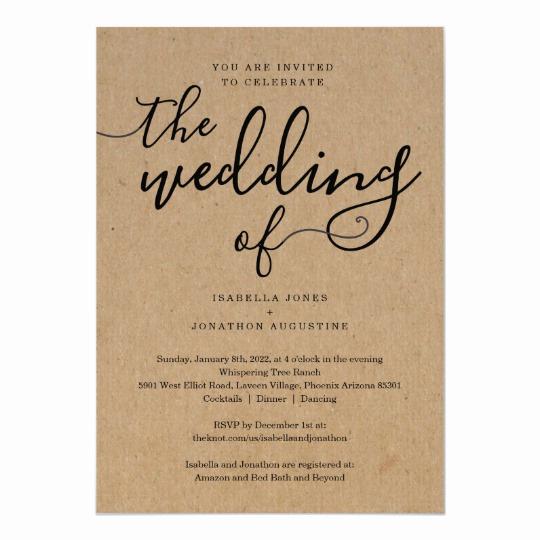 Wedding Invitation Registry Wording Best Of All In E Wedding Invitation with Rsvp & Registry