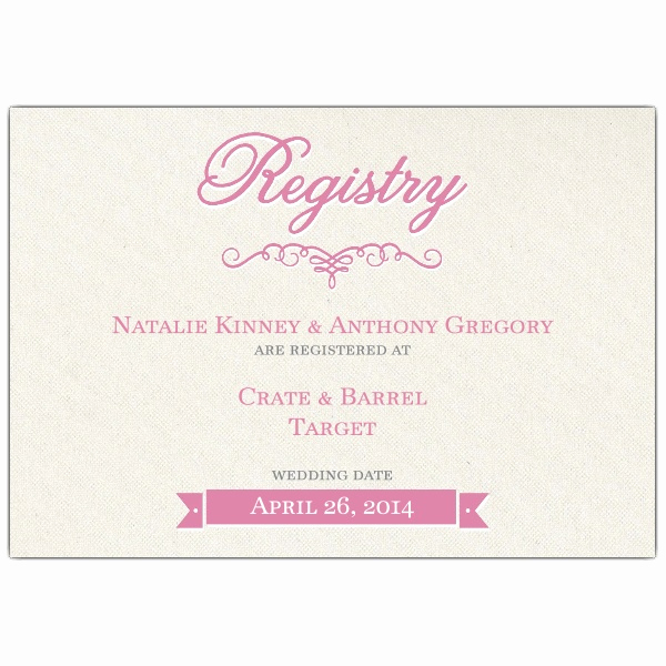 Wedding Invitation Registry Wording Best Of Pretty Bride Bridal Registry Cards