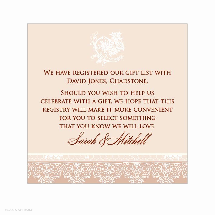Wedding Invitation Registry Wording Best Of Registry Information Wedding Invitations Invitation