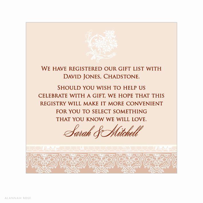 Wedding Invitation Registry Wording Best Of Registry Information Wedding Invitations Invitation