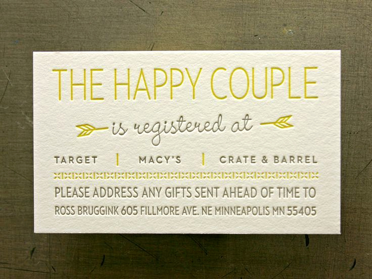 Wedding Invitation Registry Wording Best Of Wedding Registry 101 the 4 Major Things You Need to Know