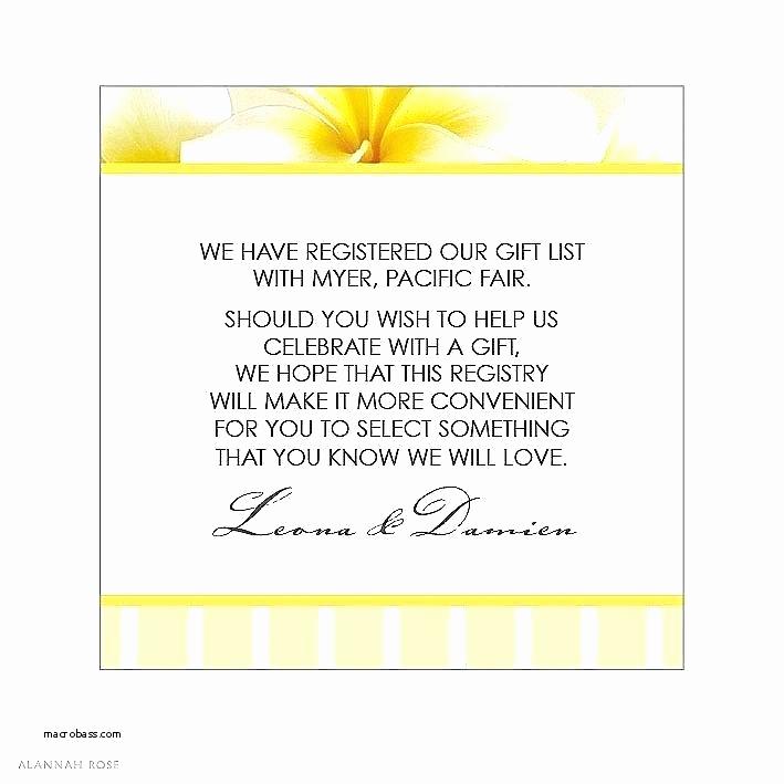 Wedding Invitation Registry Wording Elegant Bridal Shower Registry Wording – Santabantaub