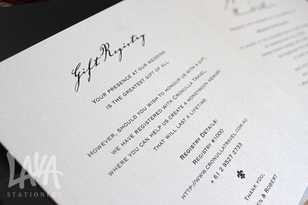 Wedding Invitation Registry Wording Lovely Wedding Stationery Checklist
