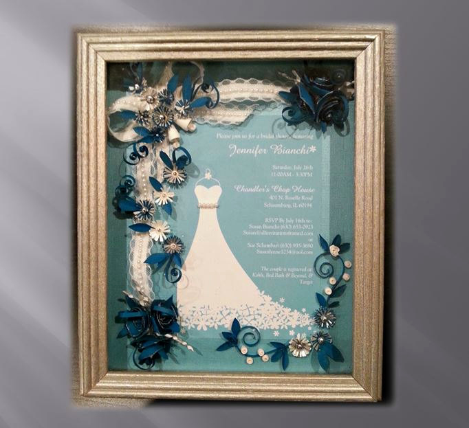 Wedding Invitation Shadow Box Awesome Framed Bridal Shower Invitation Custom Bridal Gift Teal