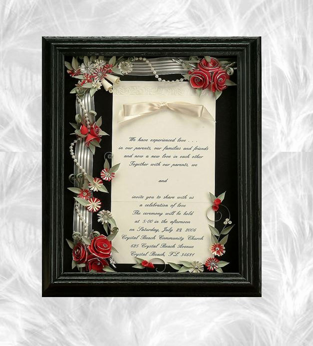 Wedding Invitation Shadow Box Awesome Framed Wedding Invitation Wedding Shadow Box Wedding T