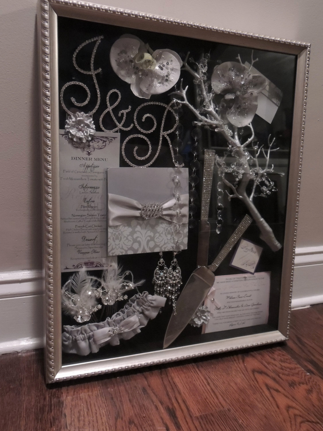 Wedding Invitation Shadow Box Elegant Wedding Shadow Box