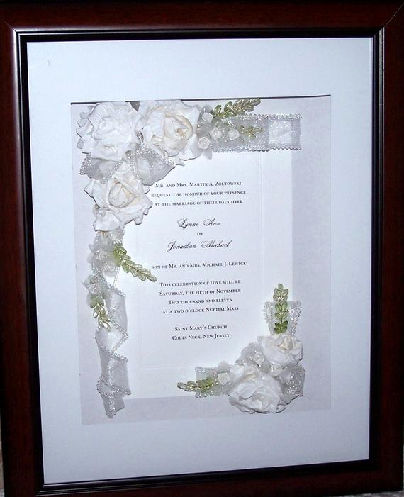 Wedding Invitation Shadow Box Ideas Awesome Items Similar to Wedding Invitation Keepsake Shadow Box On