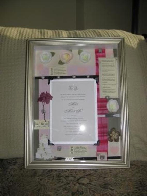 Wedding Invitation Shadow Box Ideas Beautiful Items Similar to Wedding Invitation Keepsake Shadow Box On