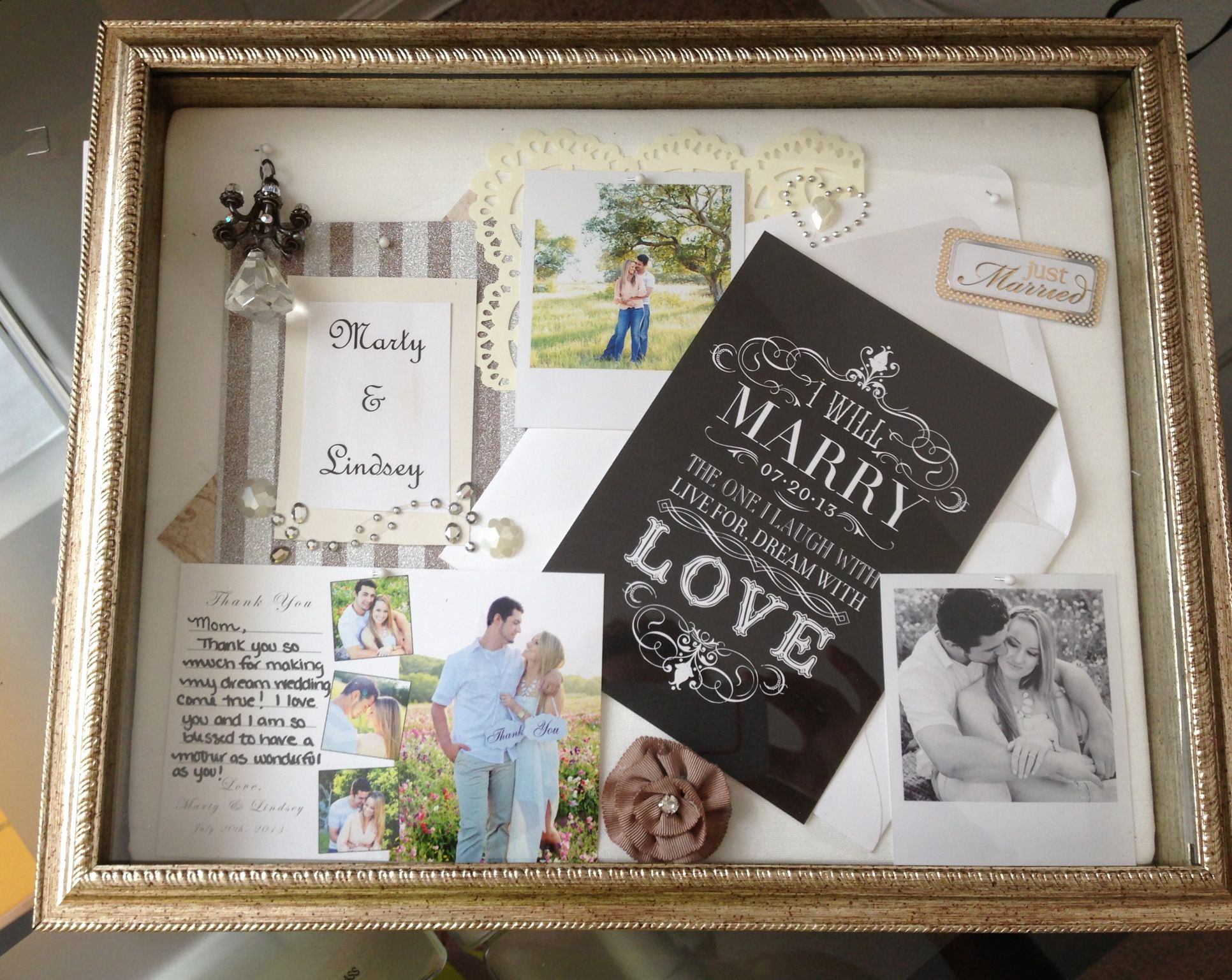 Wedding Invitation Shadow Box Ideas Beautiful Shadow Box Wedding Thank You T to Mom