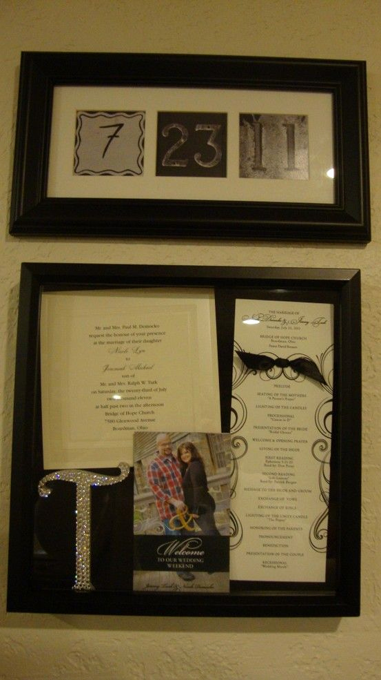 Wedding Invitation Shadow Box Ideas Fresh My First Pinterest Project Inside the Shadow Box is An