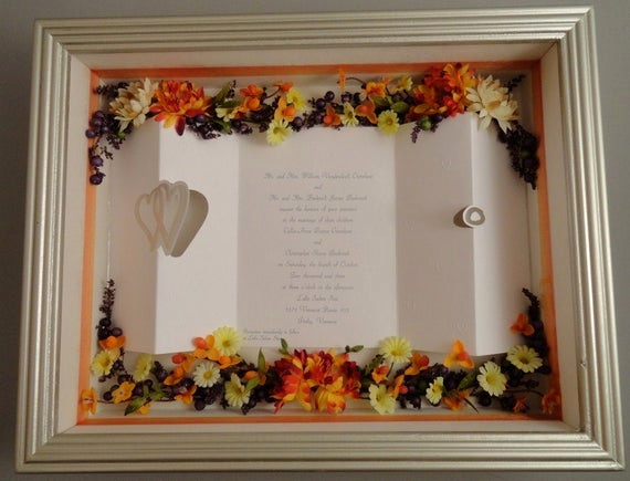 Wedding Invitation Shadow Box Ideas Luxury Items Similar to Folded Page Wedding Invitation Shadow Box
