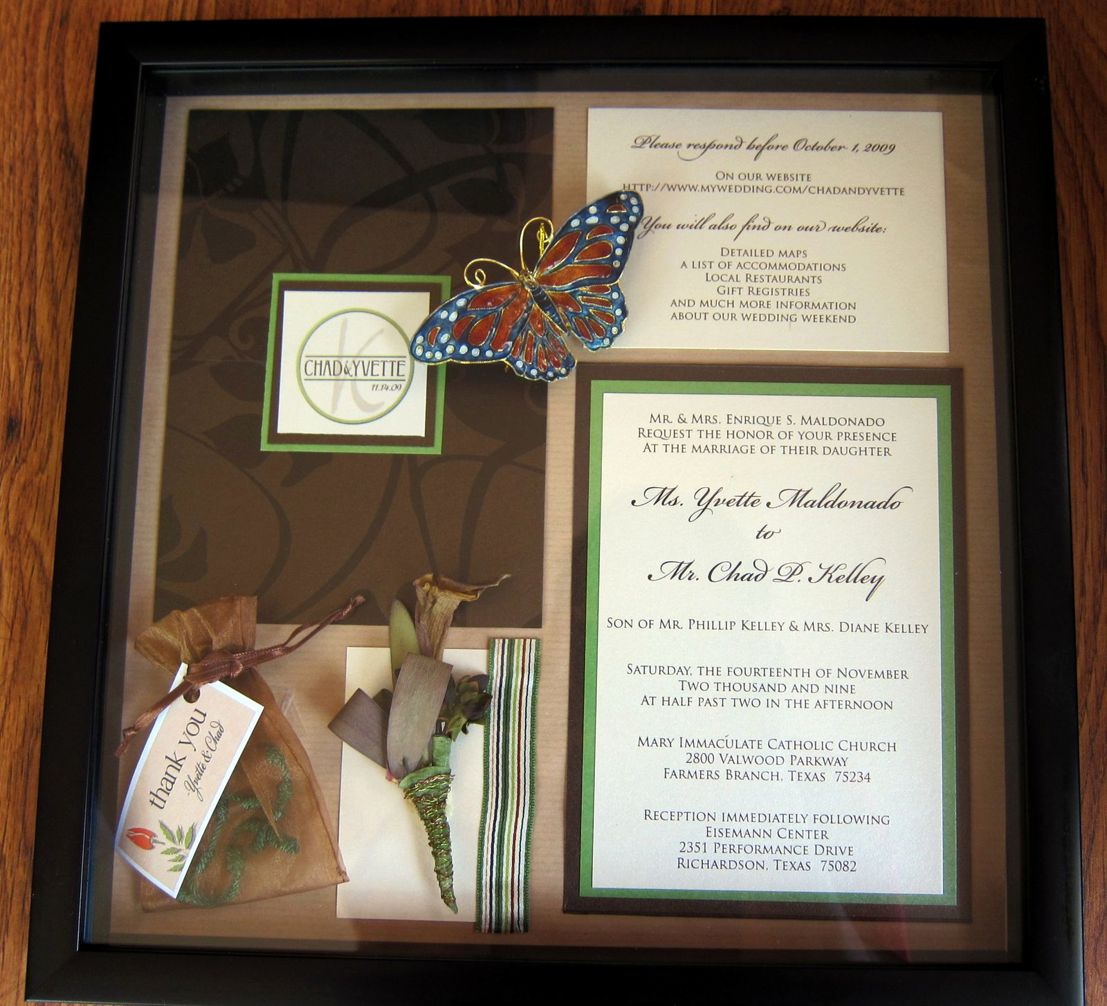 Wedding Invitation Shadow Box Ideas New Love & Food In the Big D Shadow Box Love